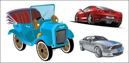 free vector 3 car vector material
