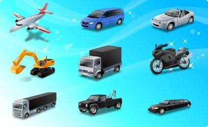 free vector Icons-Land Transport Vector Icons