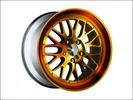 free vector Gold Wheel