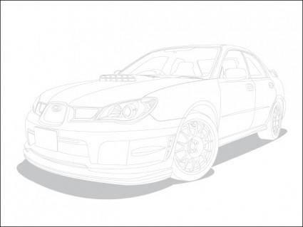 free vector Subaru Impreza