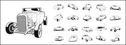 free vector Extremeclipart Vector material - classic cars
