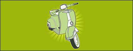 free vector Retro small motorcycle vector material
