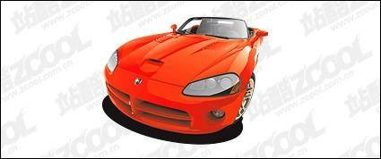 free vector Red sports car