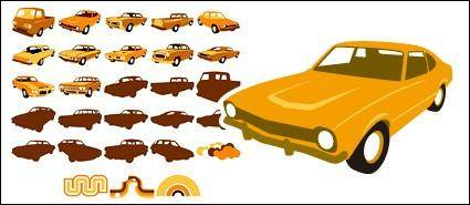 free vector Vector material elements of classic cars
