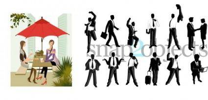 free vector People silhouettes vector