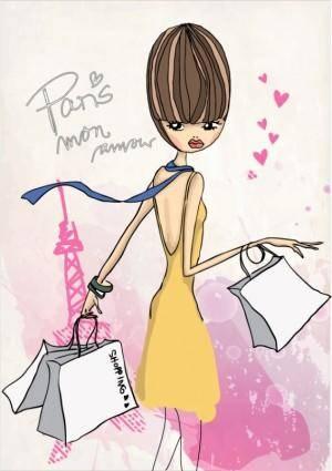 free vector Fashion shopping girl 04 vector