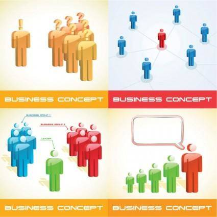 3d business people vector