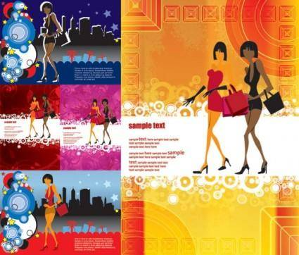 free vector Trend of the modern girl vector