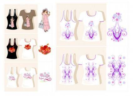 Vector cute girl clothing