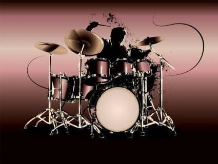 Fine drum 02 vector