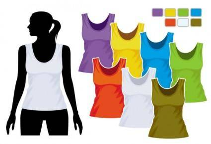 Women39s vest template 01 vector