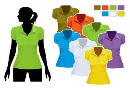 Women39s tshirt template 01 vector