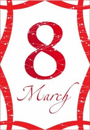 free vector March 8 women day theme graphics 04 vector