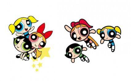 Powerpuff girls vector