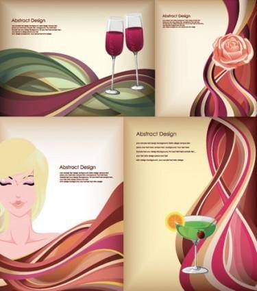 Dynamic lines of the stylish women vector
