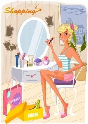 free vector Fashion women vector 21 shopping