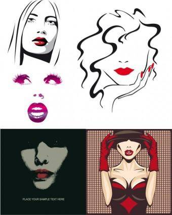 Sexy girls lips vector