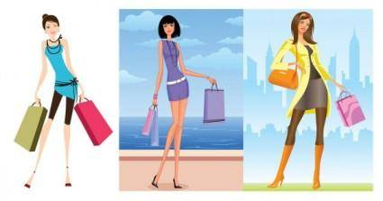 Women vector fashion shopping 27796