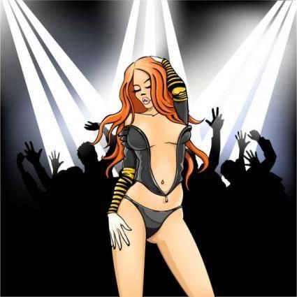 free vector Nightclub woman vector