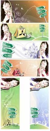 Women shopping theme vector