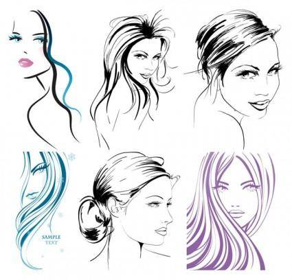 Handpainted women vector