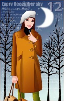 free vector 4 winter vector women