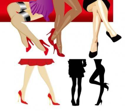 Women legs vector