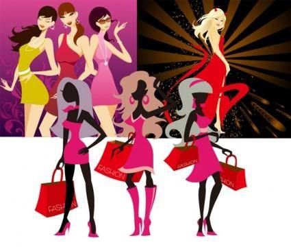 3 fashion women vector