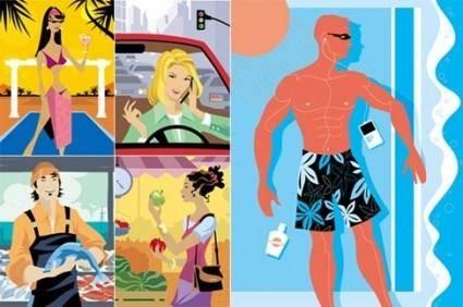 5 People illustrator vector graphics