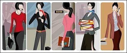 5 Free Vector Office GirlS