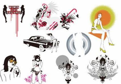 9 The Trend of Girl Vector
