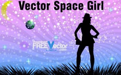 free vector Vector Space Girl
