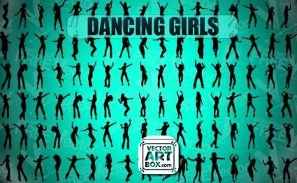 free vector Dancing Girls