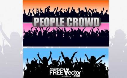 free vector Vector People Crowd