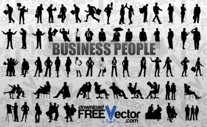 free vector Vector Business People