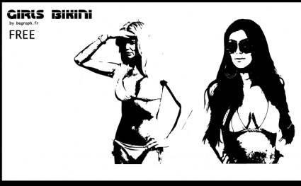 free vector BIKINI GIRLS Vectors