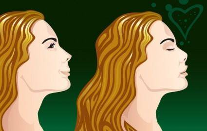 free vector Lovely Girl Side View