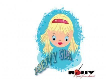 free vector Pretty Girl Vector
