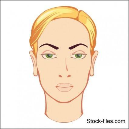 free vector Face of Blonde Girl Vector