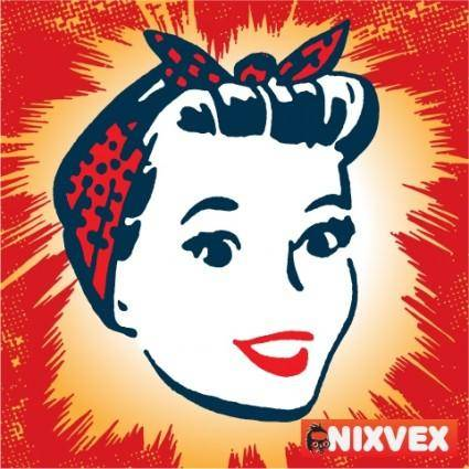 "NixVex Retro ""Working Girl"" Free Vector"