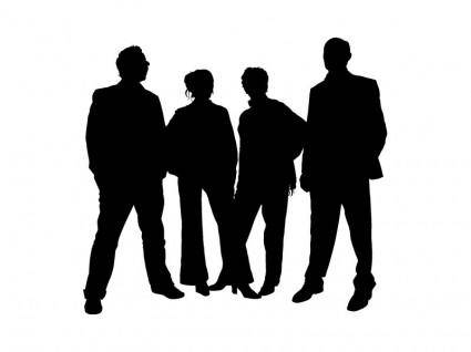 free vector Family people silhouettes