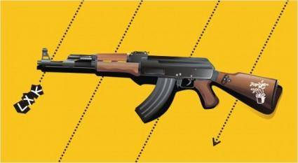 Vector ak47 rifles