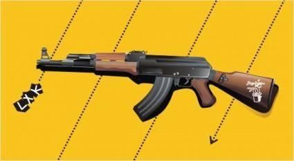 free vector Vector ak47 rifles