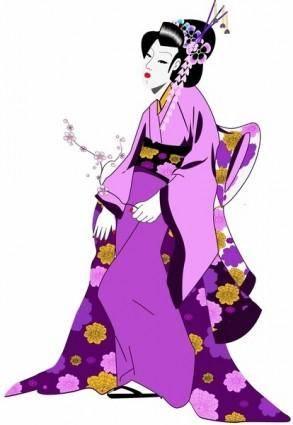 free vector Japanese Geisha Girl