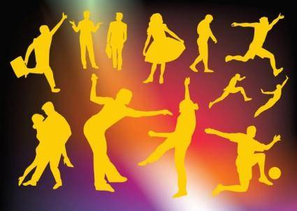 free vector Active People Vector Graphics
