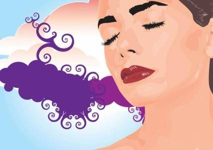 free vector Beautiful Dream Girl Vector