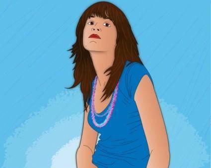 free vector Vector Girl Portrait