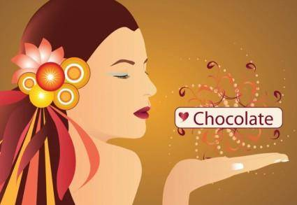 free vector Chocolate Girl