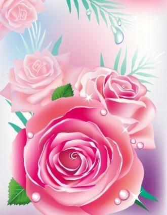 free vector Beautiful roses 04 vector