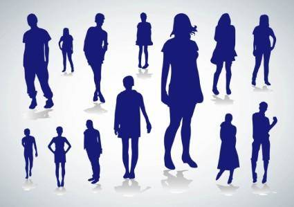 free vector People Silhouettes Vectors